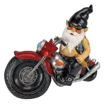 Axle and His Motorcycle Garden Gnome Statue