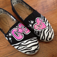 Custom order cheer team shoes