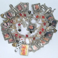 Glee Inspired Tribute Bracelet w/ 39 Charms