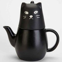 Black Cat Tea-For-One Set- Black One