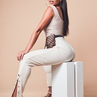 Missguided - Sand Ribbed Joggers