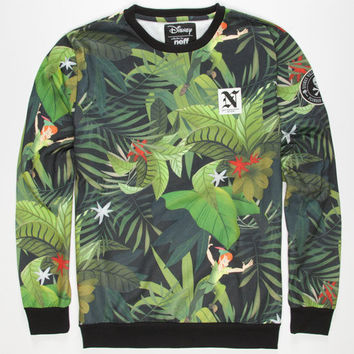 Neff Disney Villains Aarrggh Mens Sweatshirt Green  In Sizes