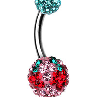 Cheri Cherry Sparkling Belly Button Ring