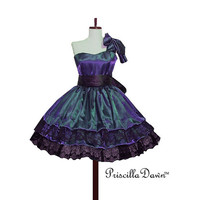 Custom Dark Blue Gothic Lolita Tea Dress by priscilladawn on Etsy