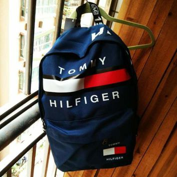 Tommy Hilfiger Casual Sport Laptop Bag Shoulder School Bag Backpack H Z