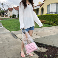 Pouch Included Transparent Bag by 66girls