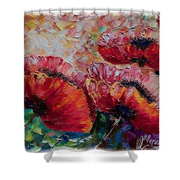 Wild Poppies - Shower Curtain