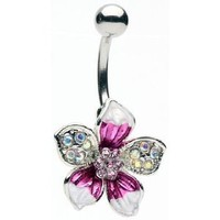 Amazon.com: Glitz and Glamour Tropical Flower Belly Ring: Home & Kitchen