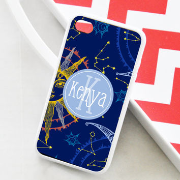 Moon and Stars iPhone 4s Case - iPhone Case - iPhone 4 case, iPhone 5 cover 5c 5s, iPhone 4s personalized protective case,