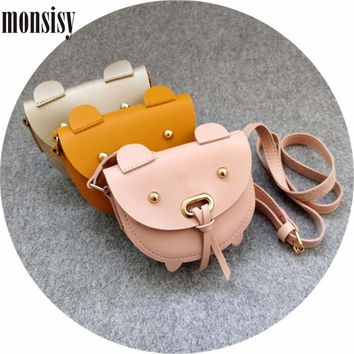 Monsisy Christmas 5PCS Children Handbag Wallet Girl Shoulder Bag Kawaii PU Leather Pig Baby Coin Purse Boy Kid Messenger Bag