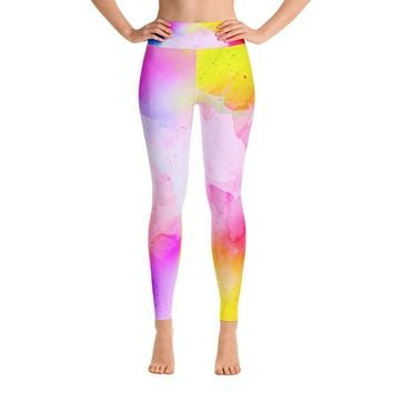 Tie Dye Cloud Yoga Leggings