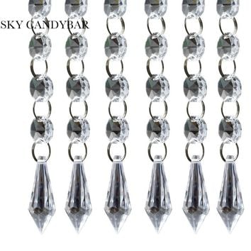 "SKY CANDYBAR 6 strands 20"" Acrylic Crystal Garland Chandelier  Hanging Bead Chains Free shipping"