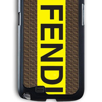 Samsung Galaxy Note 2 Case - Rubber (TPU) Cover with fendi logo Rubber Case Design