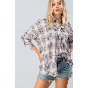 Happy Hayride Flannel - Blue