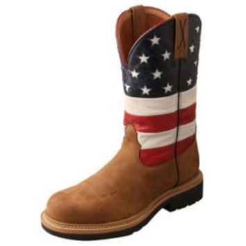 Twisted X Mens VFW USA Cowboy Work Boot