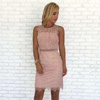 Take My Blush Away Lace Dress