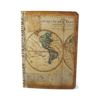 Mini Travel Notebook - Old World Map Journal