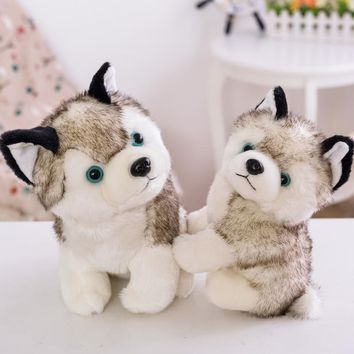 Husky cute little doll, plush toy dog, dog dolls, sofa ornaments, birthday gift, Christmas gift
