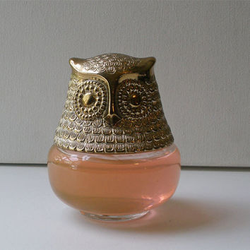 Vintage Avon Owl Cologne Gelee Roses Roses by OpheliaVintageHome