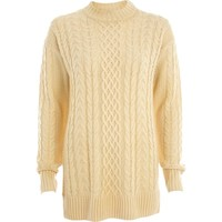 Cream chunky cable knit tunic - jumpers - knitwear - women