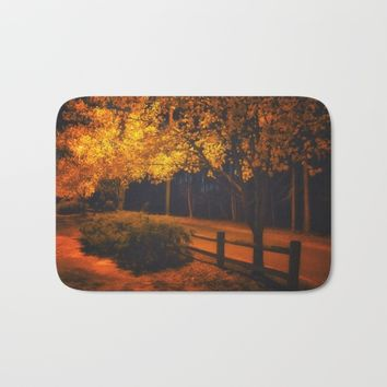 Autumn Evening Glow Bath Mat by Scott Hervieux