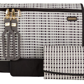JJ Cole All Around Baby Diaper Bag with Changing Pad - Black & Cream