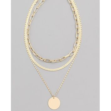 Chain Layer Choker Necklace
