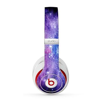 The Purple and Blue Scattered Stars Skin for the Beats by Dre Studio (2013+ Version) Headphones