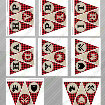 Lumberjack party - Lumberjack party supplies - Lumberjack party decor - Lumberjack birthday decorations - Lumberjack signs, banner & more