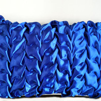 12 x18 Decorative Satin Throw Pillows Cover in Royal Blue Canadian Smocking Accent Pillows Sofa Pillows Cushion Cover Home Décor