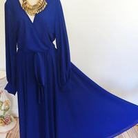 Aurora Elegance Dress-Blue