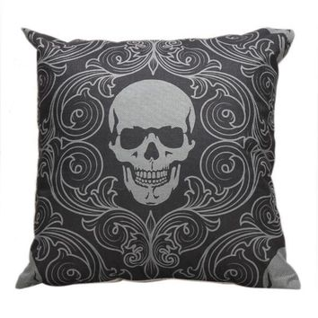 Halloween Skull Pillow Case Sofa Waist Throw