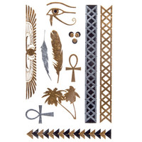 Egyptian Metallic Tattoos Metal One Size For Women 25740109201