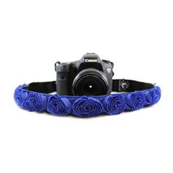 Cobalt Blue Organza 1.5In Camera Strap - Capturing Couture - CASLR15-CBRS