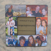 Personalized Picture Frame, Custom Family Photo Collage, Unique Christmas Gift, Parent's Gift