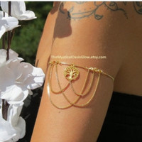 Arm Band, Upper Arm Band, Chain Armlet, Armlet, Arm Jewelry, Arm Chain, Body Chain, Dream Catcher Jewelry, leglet, Leg Chain, Arm Cuff