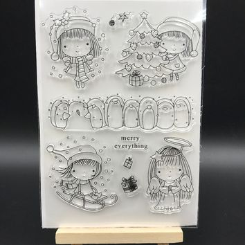 Merry Everything Transparent Clear Silicone Stamp/Seal for DIY scrapbooking/photo album Decorative clear stamp sheets A552