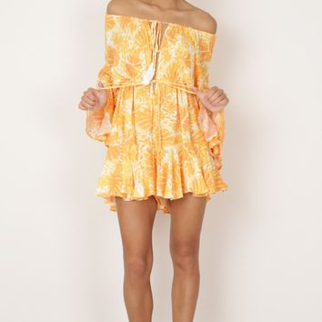 More Than This Playsuit in yellow print Produced By SHOWPO