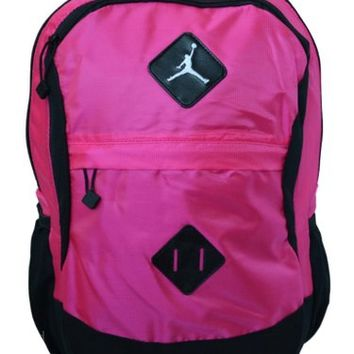 Nike Air Jordan Black and Pink Gamer Backpack for Laptop with Tablet Sleeve 9A1519-P29
