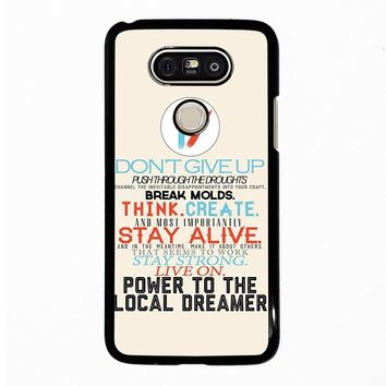 TWENTY ONE PILOTS TITLES LG G5 Case Cover
