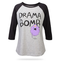 Adventure Time Drama Bomb Raglan Ladies' Tee - Heather,