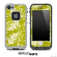Vintage Gold Floral Skin for the iPhone 5 or 4/4s LifeProof Case