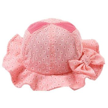 CUPUP9G Sun Beach Casual Bucket Baby Hat Toddler Infant Sun Cap Summer Baby Girl Floral Hats
