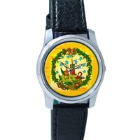 Christmas Candles V1 Wrist Watch