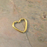 Gold Heart Daith Ear Piercing Cartilage