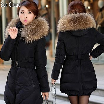 Free shipping Sea Cloud military thick coat famous brand plus size XXL XXXL 4XL 5XL Large size women fat 2017 winter coat trench