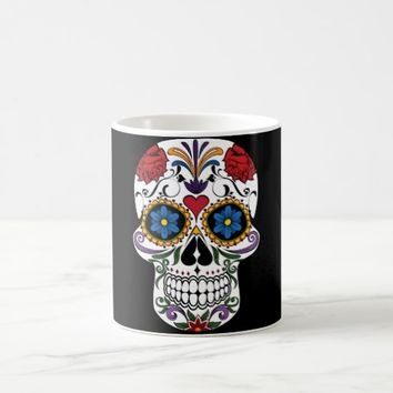 Colorful Sugar Skull Coffee Mug