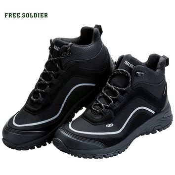 FREE SOLDIER outdoor sports tactical military shoes men boots lightweight wear-resisting non-slip for camping hiking