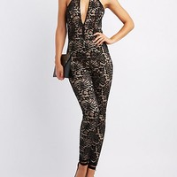 Lace Cut-Out Jumpsuit