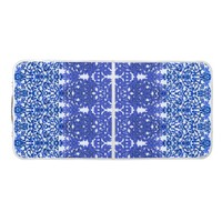 Openwork pattern in the style blue-chinoiserie beer pong table